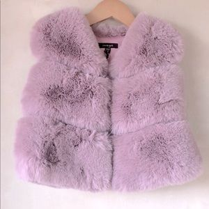 NWT Imoga girls faux fur vest